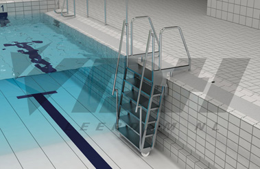 Vdh Hinged Lazy Pool Steps For Use With Movable Floor