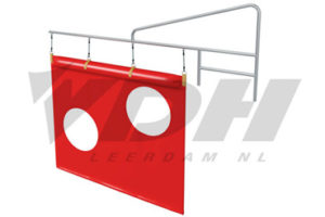 VDH support frame for swim-through screen