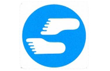 Symboolbord blote voeten