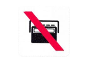 Symboolbord geen radio