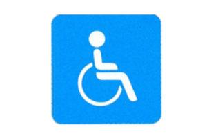 Symboolbord gehandicapten