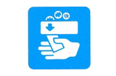 Symboolbord kassa automaat