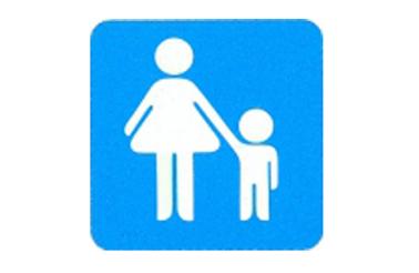 Symboolbord moeder en kind