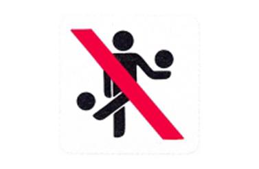Symboolbord niet ballen
