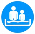 Symboolbord niet geoefende zwemmers