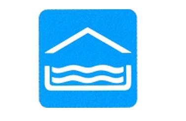 Symboolbord overdekt zwembad