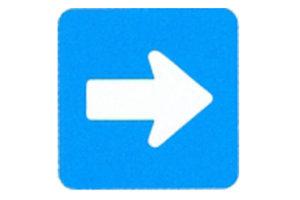 Symboolbord richtingspijl