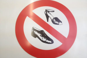 Symboolbord geen schoenen
