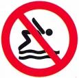 Symboolbord niet duiken