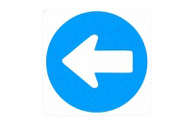 Symboolbord voorgeschreven weg