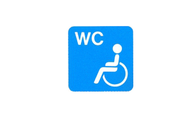 Symboolbord w.c.-gehandicapten