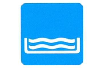 Symboolbord zwembad