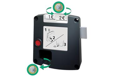 Safe-O-Mat 800 pandslot, sleutel met kogelhouder