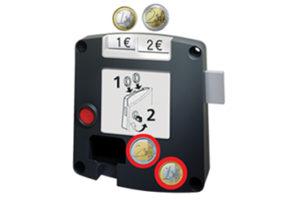 Safe-O-Mat kassierslot, sleutel met kogelhouder